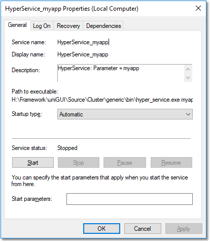 install windows service command line with different name